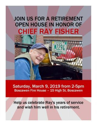Retirement Open House Chief Ray Fisher Town Of Boscawen Nh